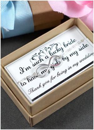 Bridesmaid gifts wedding jewelryInfinity by thefabjewelrywedding, $23 ...