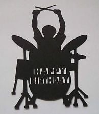 ... Rock Drummer Happy Birthday toppers card making Male Boy Birthday More