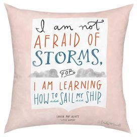 Throw pillow with a quote-detailed design. Product: PillowConstruction ...