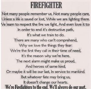 Firefighter poem