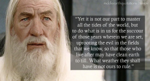 Gandalf Death Quote