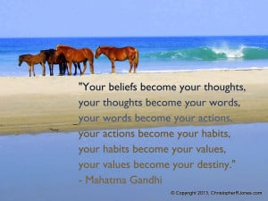 Simply Quotes: how your beliefs become your destiny