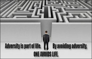 Adversity Is Part Of Life. By Avoiding Adversity. One Avoids Life.