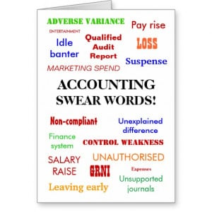 Accounting Swear Words! Blank Greeting Greeting Card