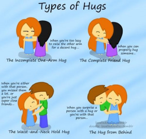Quotes about types of hugs