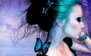 women butterfly wings 1440x900 wallpaper Animals Butterflies HD