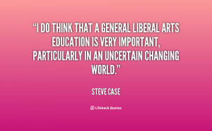 An analysis of liberal arts as a universal education
