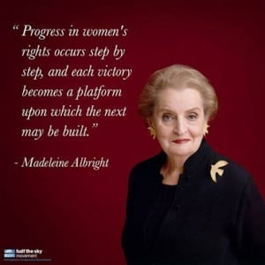 Step by step, Madeleine K. Albright has helped pave the way for women ...