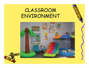 First Impressions of Classroom Environments