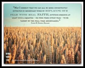 Russell Ballard -- Replace fear with FAITH! #LDSConf #LDS # ...