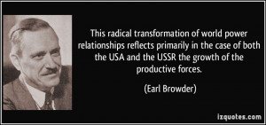 This radical transformation of world power relationships reflects ...