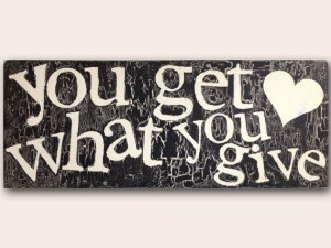 Wooden Plaque with Quote -