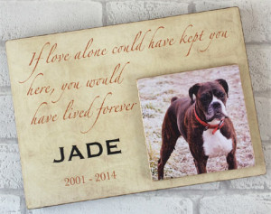 Wooden Text & Photo Dog Plaques