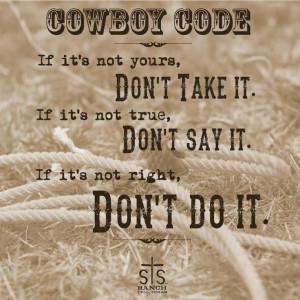 Cowboy Code #quotes