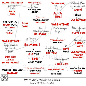 Valentine Cute Saying For Kids