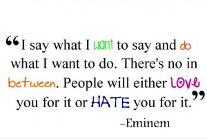 Eminem Quotes and Sayings