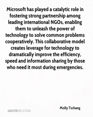 played a catalytic role in fostering strong partnership among leading ...
