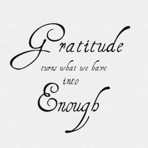 Monday inspiration - gratitude quote