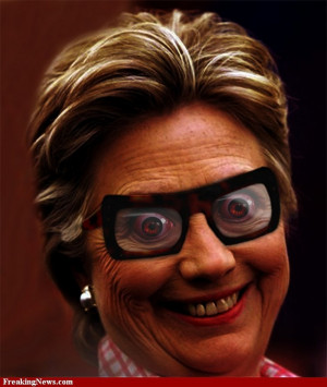 Hillary Clinton Wearing Funny Glasses