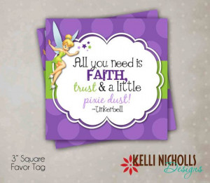 Girl's Birthday Party Tinkerbell Quote by KelliNichollsDesigns, $5.00