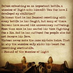 The Manual of the Warrior of Light #LiveLikeAWarrior More