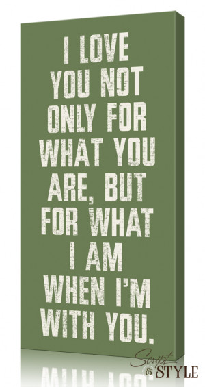 Home Canvas Wall Art Canvas Wall Art with Quote, I Love You For What ...