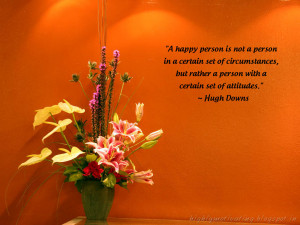 Happiness - Hugh Downs Quote Wallpaper