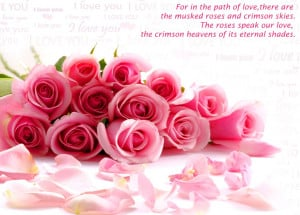 Flowers love quotes wallpaper