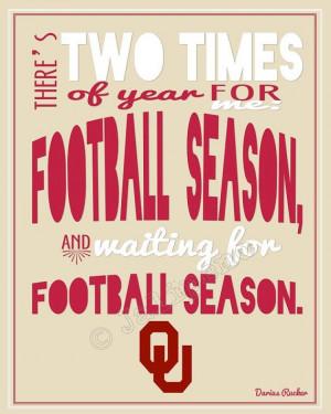 University of Oklahoma OU Sooners Football Season Darius Rucker Quote ...