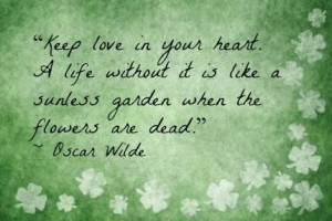 Irish poets quotes on love