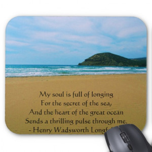 Henry Wadsworth Longfellow Spiritual Quote Mousepads