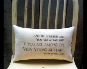 lyrics on pillow Sinatra