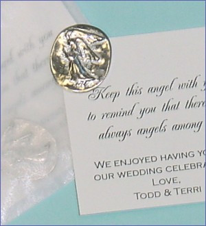 Pocket Angel Memorial Favor with Poem