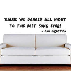 Best Song Ever Lyrics Quote Wall Sticker made from high quality wall ...
