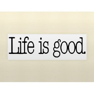 GOOD Vinyl wall lettering stickers quotes and sayings home art decor ...