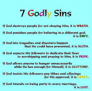 Seven sins of God