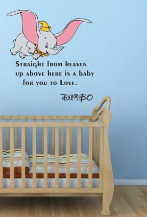 Walt Disney Dumbo Wall Quote Sticker Art Vinyl Mural Different Colours ...