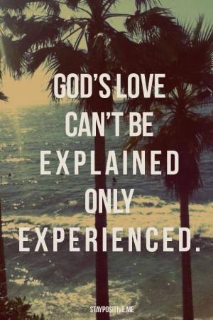 God's amazing love!