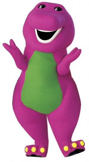 Growing up, my two sisters were infatuated with Barney the Dinosaur ...