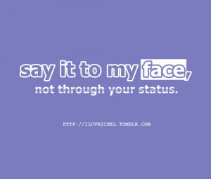 face, facebook, iluvrichel, quotes, sayingimages, sayings, separate ...