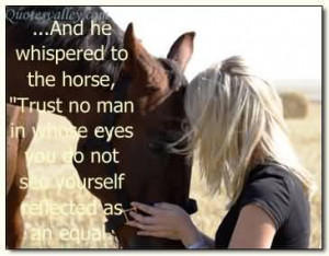 All Horses Deserve, At Least Once In Their Lives, To Be Loved By A ...