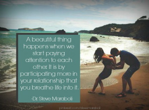 beautiful thing happens when we start paying attention to each other ...