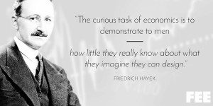 Quote-Hayek-Curious-Task-of-Economics