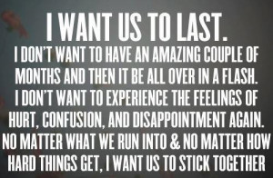 Inspiring love quotes i want us to last