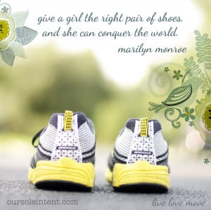 right pair of shoes, run quote