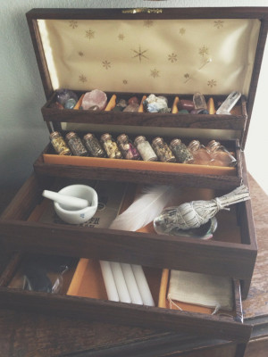 ... witchcraft Spiritual altar HERBS wiccan pagan wicca fairies faery