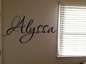 ... -Alyssa-Girls-Room-Name-Nursery-Baby-Kids-Vinyl-Wall-Quote-Sticker