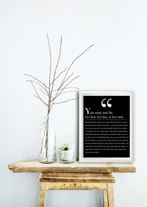 Bob Marley love quote Wedding Gift You may not be her first Romantic ...