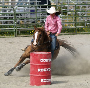 barrel racing is a lot of fun to watch--you don't have to be a country ...