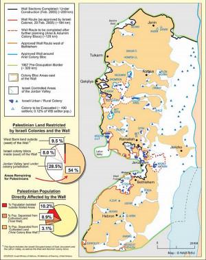 west bank palestine map